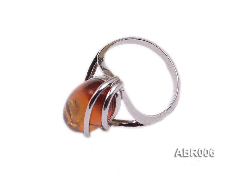 7.5mm Natural Amber Ring