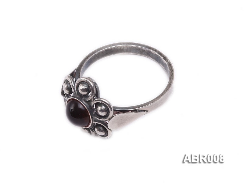 6.5mm Natural Amber Ring