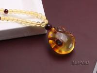 25x21mm Amber Pendant