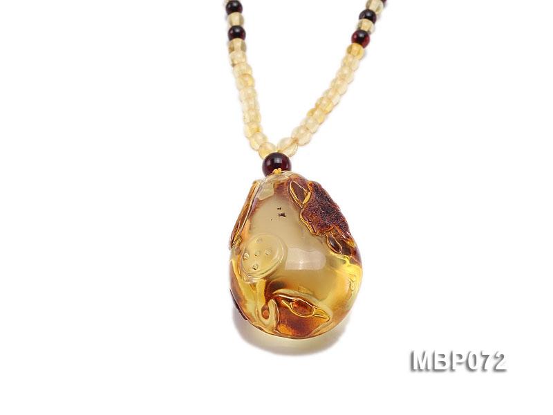 37x25mm Amber Pendant