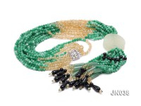 4.5mm Round Green Korean Jade Necklace
