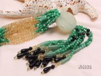 4.5mm Round Green Korean Jade Necklace