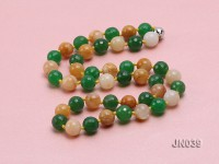 12mm Round Malay Jade and Yellow Jade Long Necklace