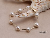9-10mm Freshwater Pearl Bracelet with 14k Gold Chain