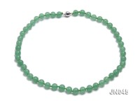 8.5mm Round Green Aventurine Jade Necklace