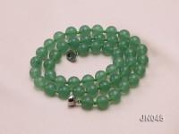 8.5mm Round Green Aventurine Jade Necklace