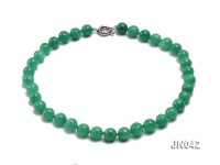 11mm Round Green Korean Jade Necklace