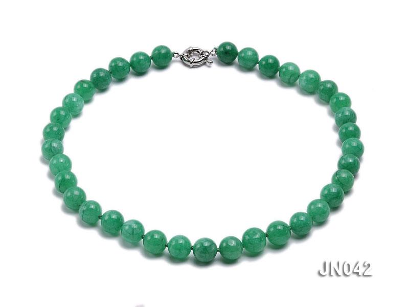 11mm Round Green Korean Jade Necklace