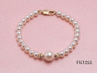 6-6.5mm White Freshwater pearl Necklace and Bracelet Set