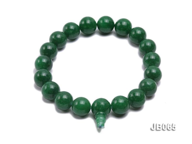 16mm Round Green Korean Jade Bracelet