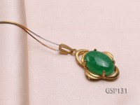 20x27mm Chrysoprase Pendant with Zircon