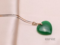 22mm Chrysoprase Pendant with Zircons
