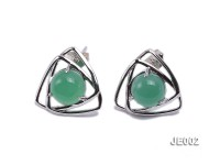 15x15mm Chrysoprase Earrings