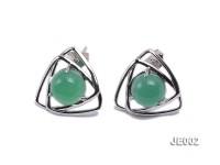 15x15mm Chrysoprase Earrings