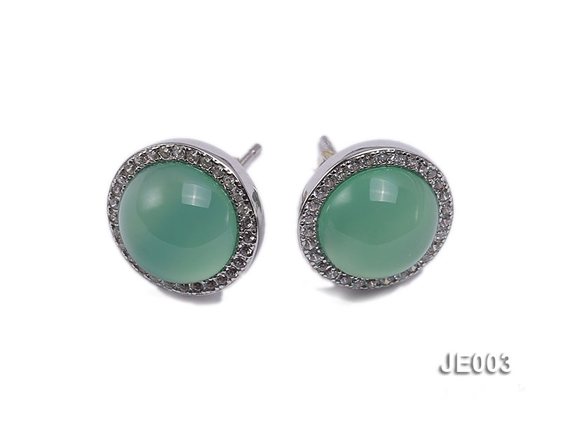 12.5mm Chrysoprase Earrings