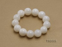 16mm Round Jadefied Tridacna Elastic Bracelet