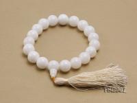 16mm Round Jadefied Tridacna Beads Elastic Bracelet