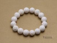 12mm Round Tridacna Elastic Bracelet