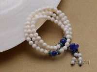 6mm Round Tridacna Beads Elasticated Bracelet