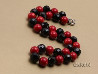 13mm Red Round Coral Necklace