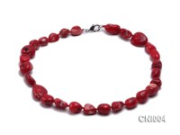 13x20mm Red Irregular Coral Necklace