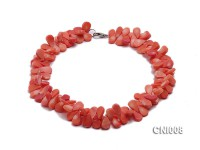 12x7x4mm Orange Drop-shaped Coral Necklace