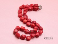 15x11x8mm Red Irregular Coral Necklace