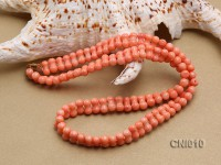 5x10mm Orange Irregular Coral Necklace