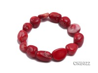 15x13x8mm Red Irregular Coral Bracelet