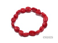 12x10x6mm Red Irregular Coral Bracelet