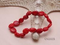 12x10x6mm Red Irregular Coral Bracelet