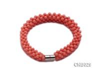 Hand-woven 3.5mm Orange Coral Bracelet