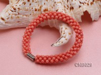 Hand-woven 3.5mm Orange Coral Bracelet