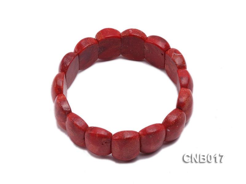 13x17mm Red Sponge Coral Bracelet