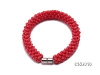 Hand-woven 3.5mm Red Coral Bracelet