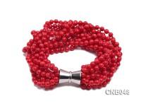 5mm Red Coral Bracelet