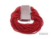 Multi-strand 2.5mm Red Coral Bracelet