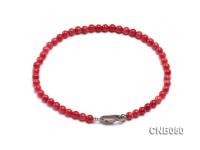 4mm Red Coral Bracelet