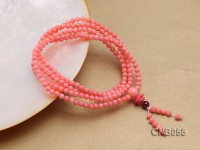 4mm Pink Round Beads Coral Bracelet