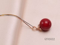 13mm Red Coral Pendant