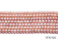 Wholesale  5X6mm pink Flat Pearl String