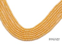 Wholesale  5x6mm  Flat  Round Pearl String