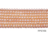 Wholesale  5X5.5mm pink Flat Pearl String