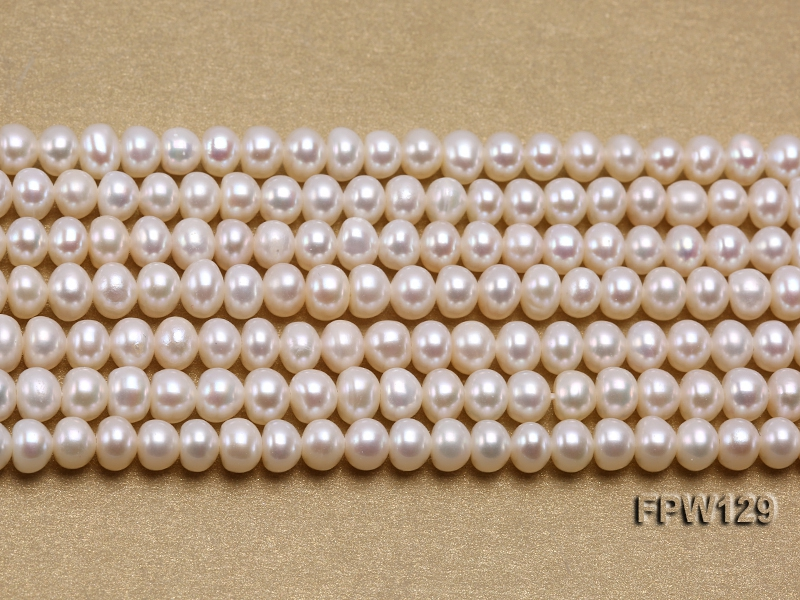 Wholesale  4X5.5mm  Flat Pearl String