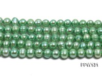 Wholesale 5.5×7.5mm  Flat  Round Freshwater Pearl String