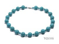 20mm&8mm Blue Round Turquoise Necklace