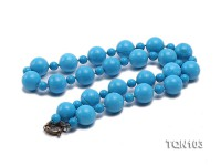 18mm&9mm Blue Round Turquoise Necklace