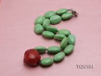 25x18mm Green Oval Turquoise Necklace