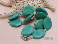 40x30mm Green Irregular Turquoise Necklace