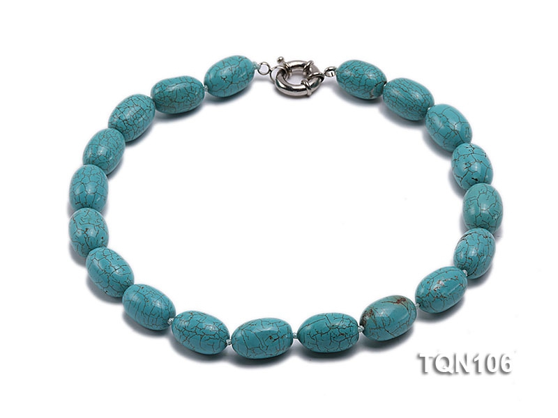 21x16mm Blue Oval Turquoise Necklace